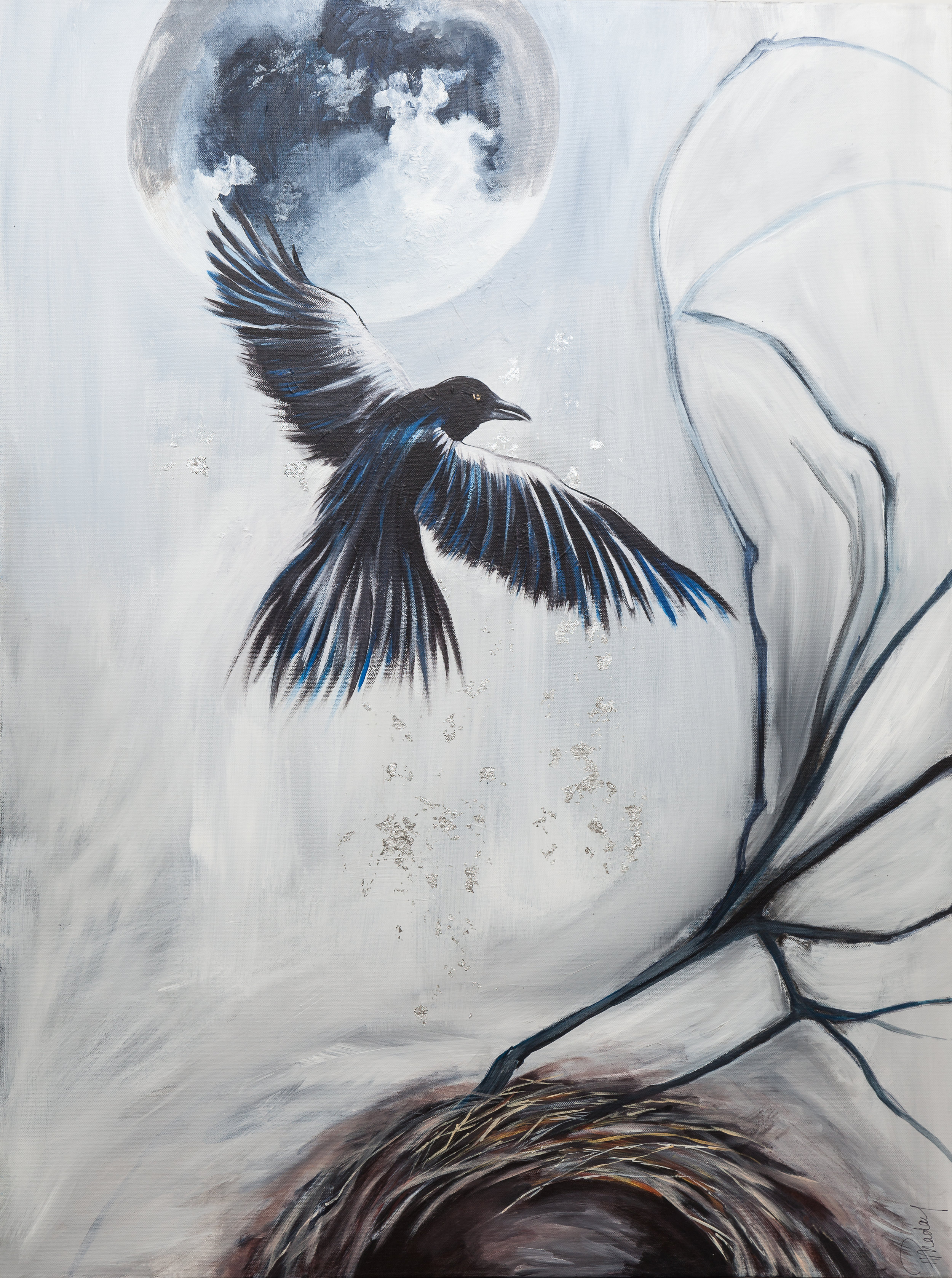 Little One Leaves the Nest  30 X 40 ""