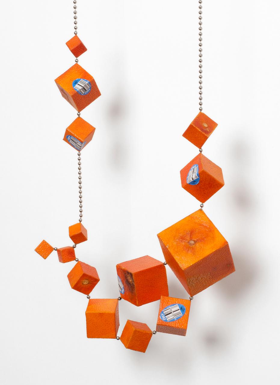Joshua Kosker | Cubic Tangelo Necklace I