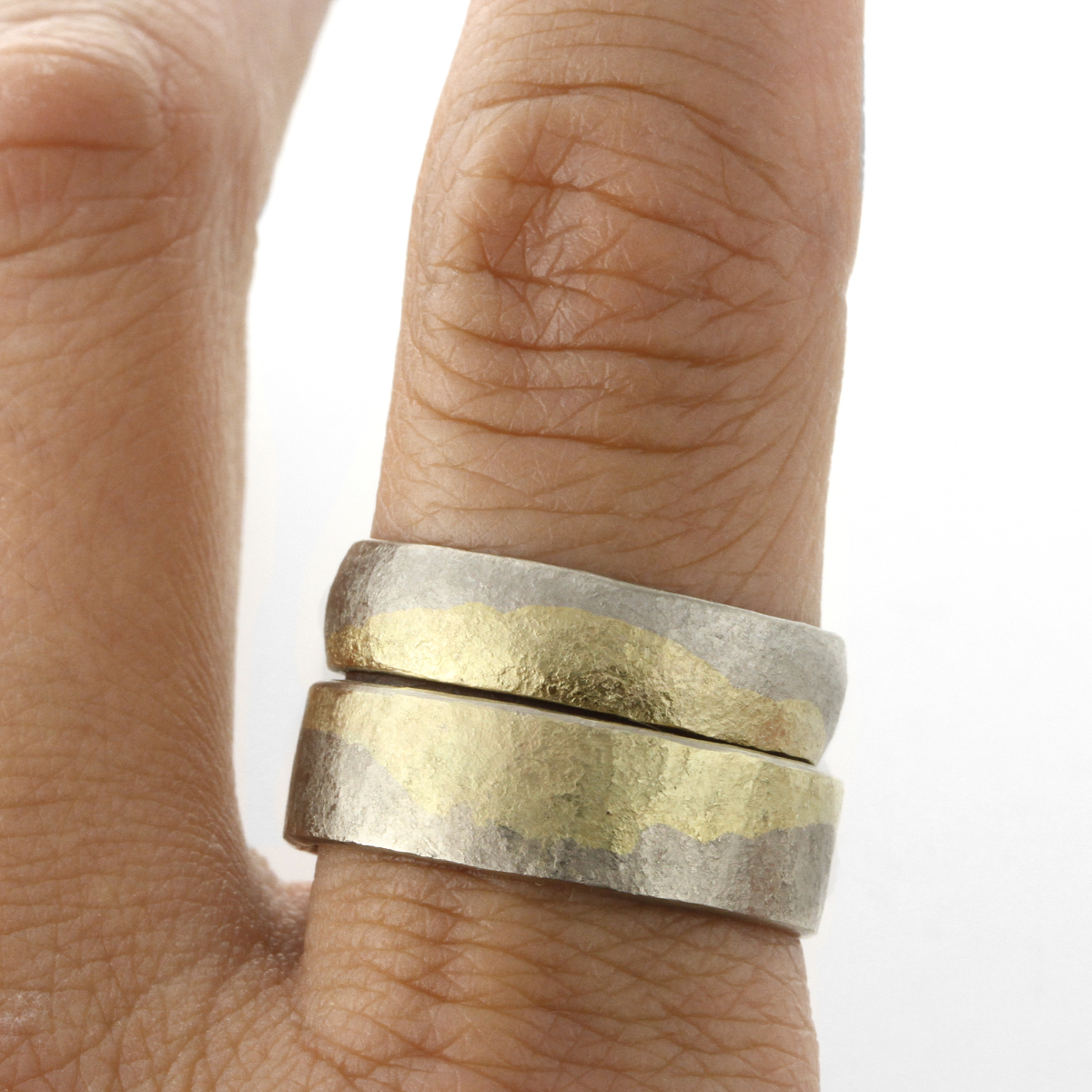 Sophie Hughes 18K Gold Moon Fused Band Half Round and Flat - Sophie Hughes.jpg