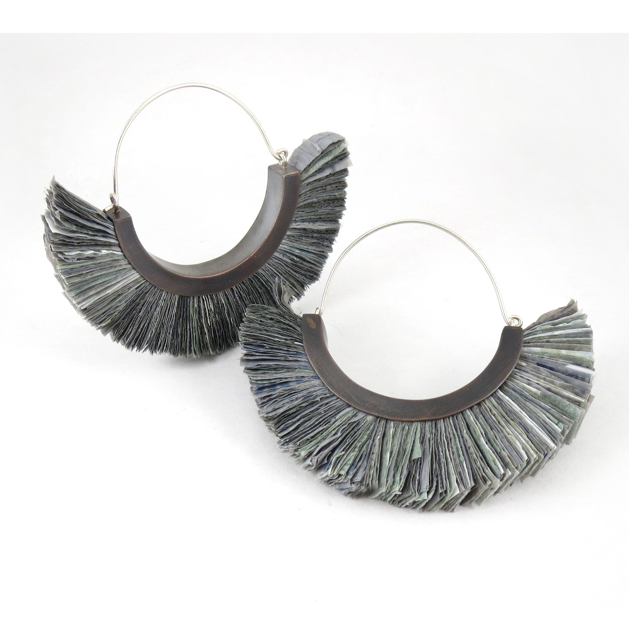 Plastic Bag Flap Earrings