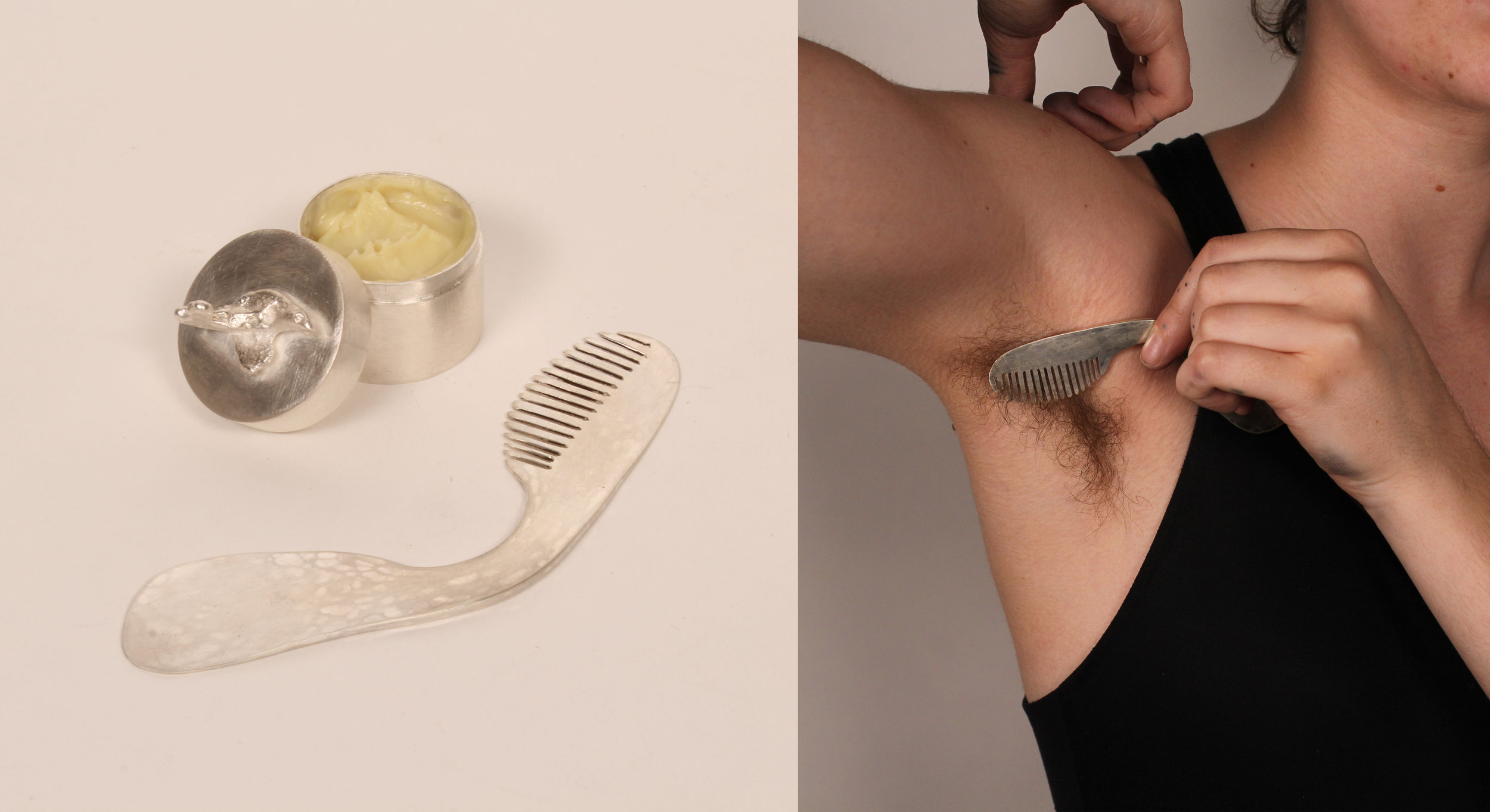 Decadent Deodorant Tin and Spreader Comb