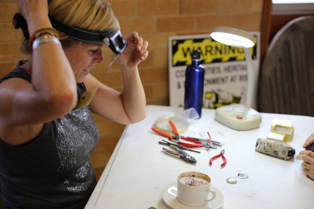 Bridget Kennedy at The Repair Cafe Sydney North. Image credit: Bridget Kennedy.
