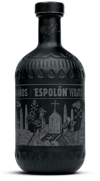 Espolòn Tequila Añejo X, 100% Blue Weber Agave. Extra aged 6 years (6 años) in new American oak barrels, it's perfect for stashing.