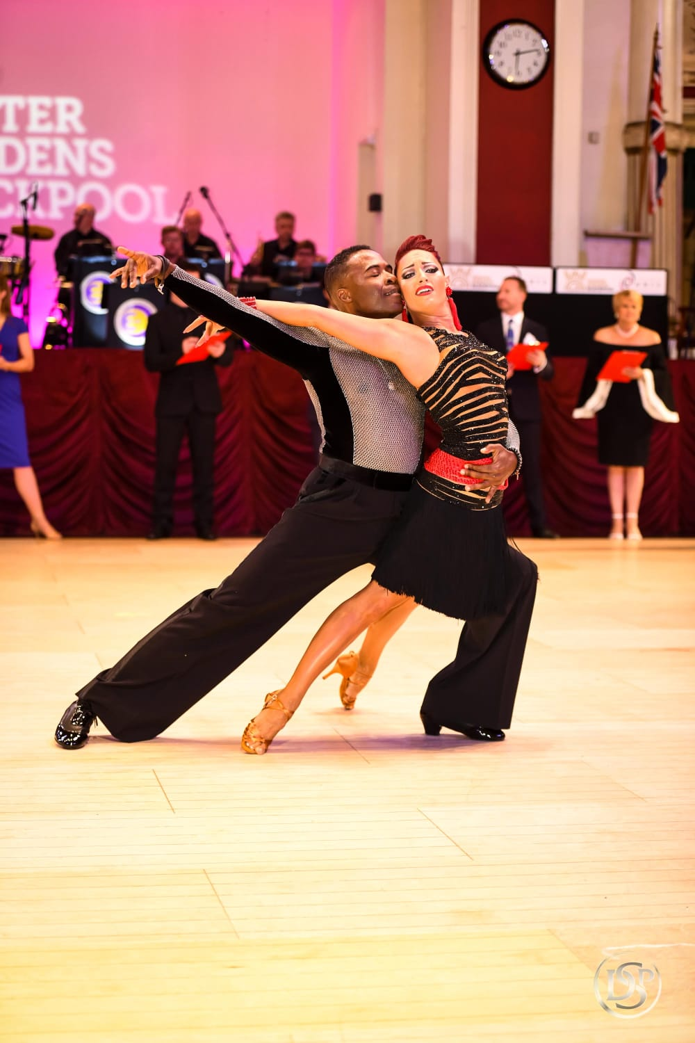 Blackpool Dance - Ballroom & Beyond's owner and principal dance instructor Jaki Brockman stomped the competition with fellow dancer and Ballroom & Beyond associate Jean Michel Erole at one of the largest and most well-known dancesport competitions in the world: the Blackpool Dance Festival. The two made a wickedly formidable team, taking 6th place in the final round of the Professional American Rhythm category! Way to go Jaki and Jean Michel! You inspire us all!