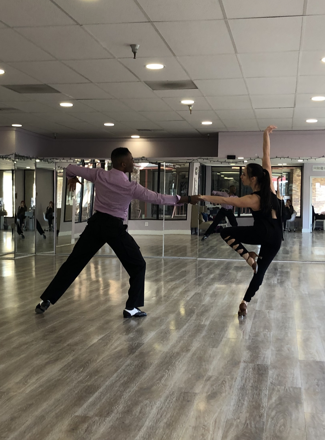 Kacey and Jean Michel Training for Emerald Ball and Blackpool 2019