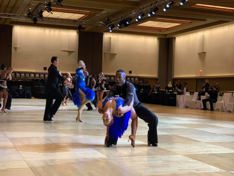 Congratulations to Kacey Warren for placing second in the Open Gold American Rhythm Scholarship and Open to the World American Rhythm scholarship at USDC Nationals! Thank you to Jean Michel for his stellar coaching and performance and Petrosyan Designs for her eye catching new dress!