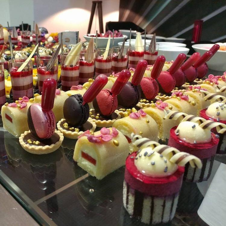 Mini desserts for Etihad Stadium.