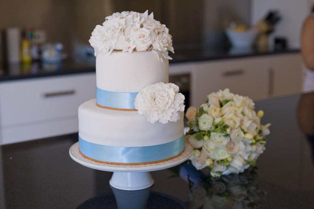 Miriam's wedding cake designed and made by herself. Image by Jon Jarvela
