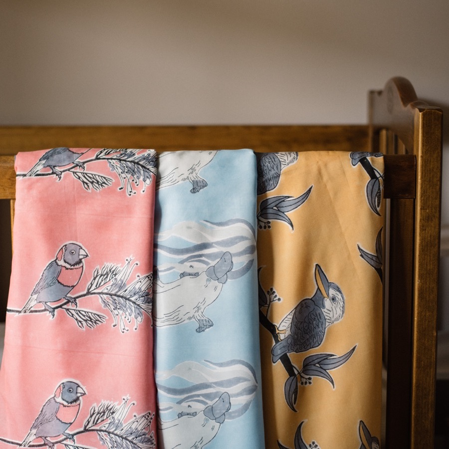 Baby Pepper's handmade blankets. Image by Dave Hawkswood