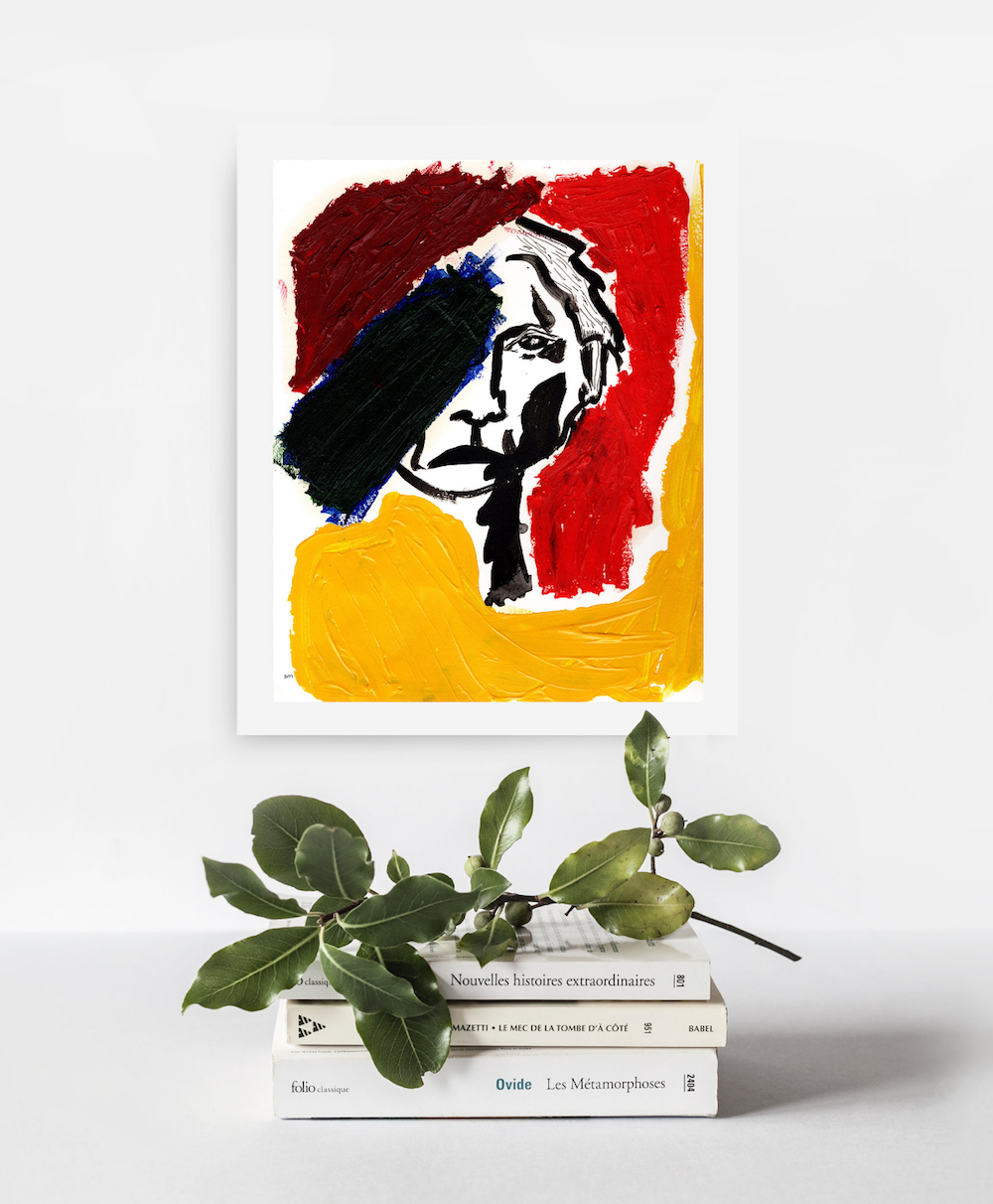 Abstract portrait by Agave Rose Design