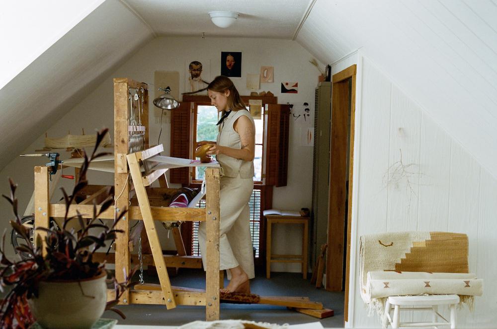 Emelie in her studio.Photo by Krysta Jabczenski