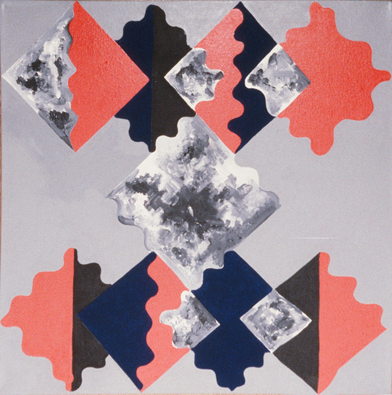 The Phoenix (1986) 30 x 30 acrylic on canvas