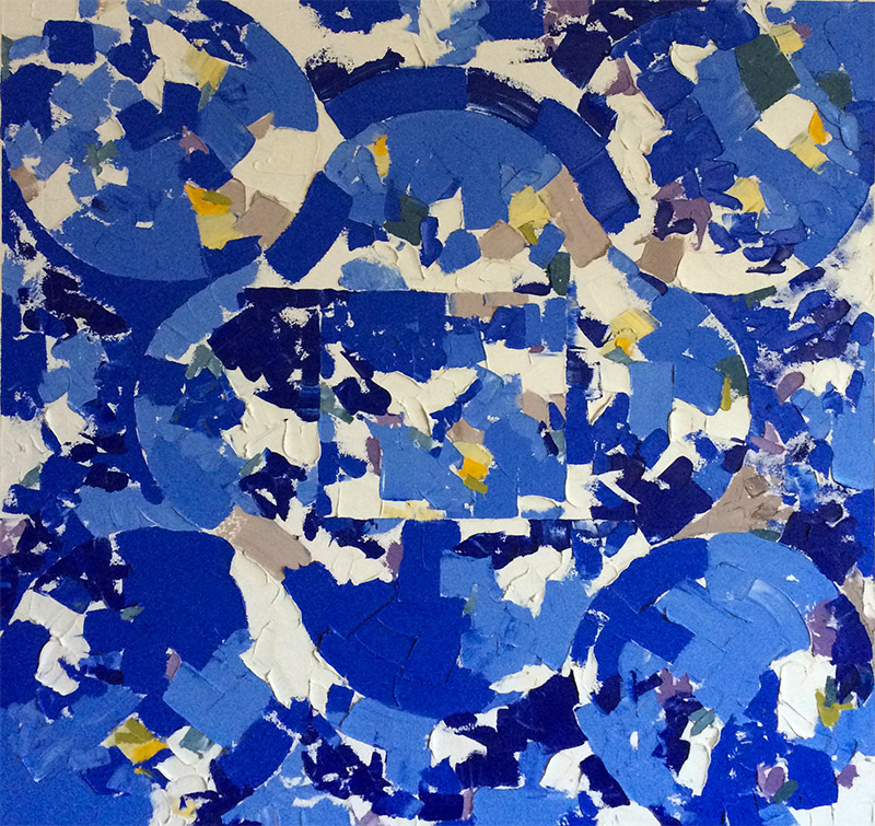 In the Major Blue (1991) Oil on Canvas 30 x 30
