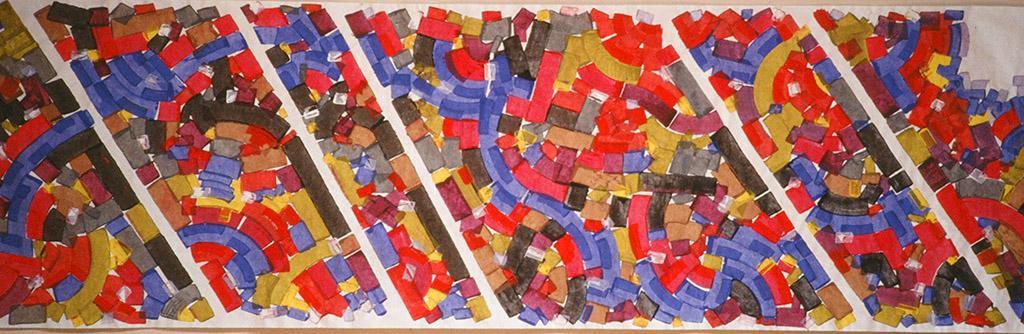 Hellenism (1992) Tempura on Paper 12 ft x 4 ft