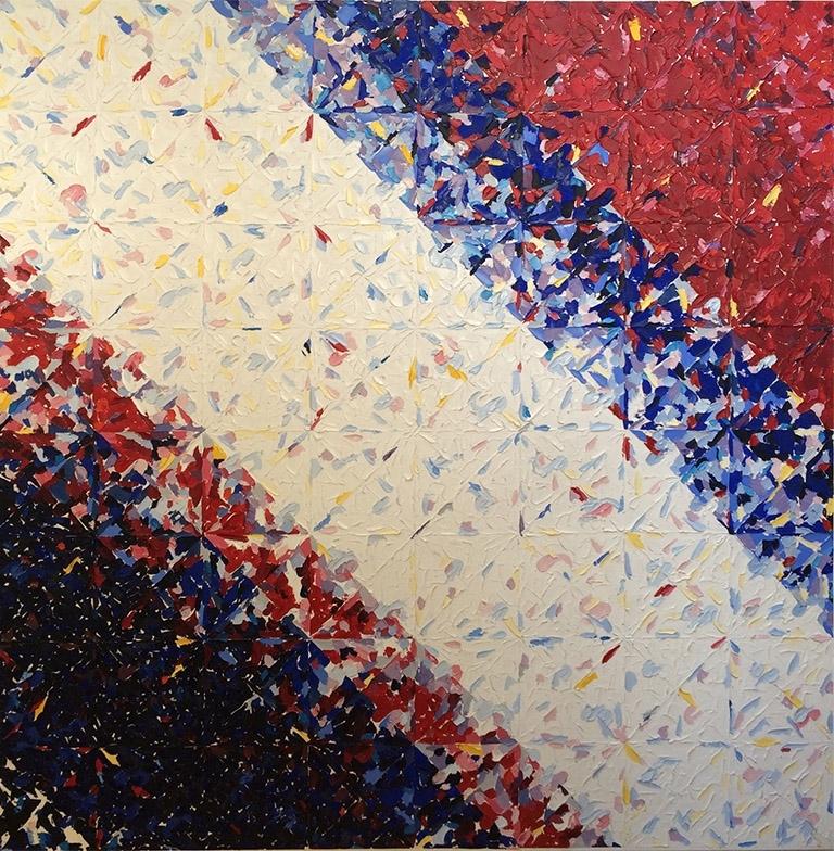 Reverberating Medium Vitality (1989) Oil on Canvas 60 x 60