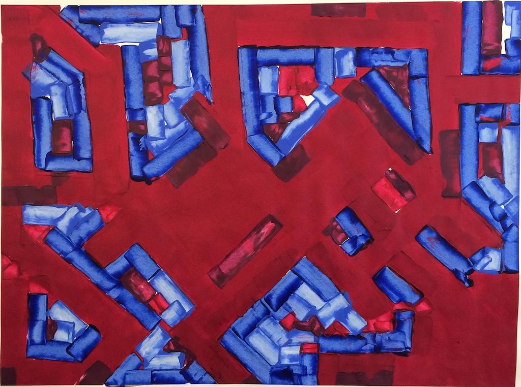 Binding Ties (2017) Acrylic, 42in. x 32in.