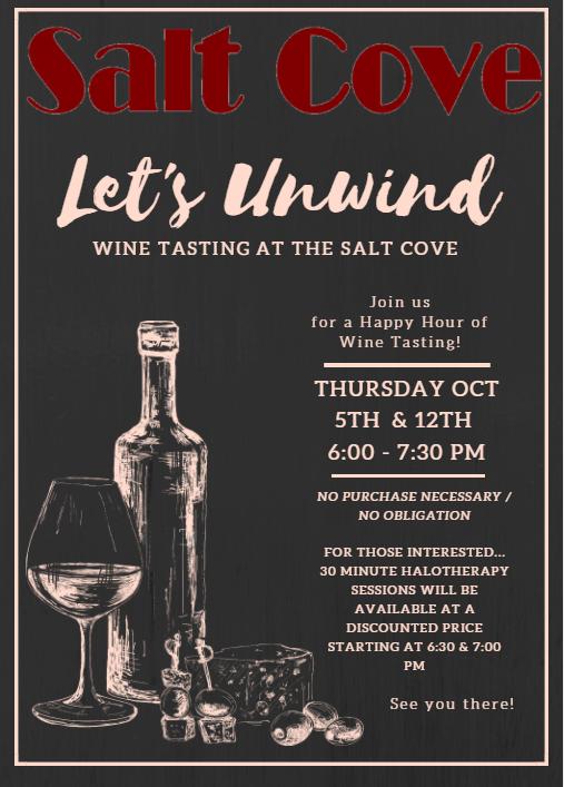 Let's Unwind Wine Tasting Event Flyer