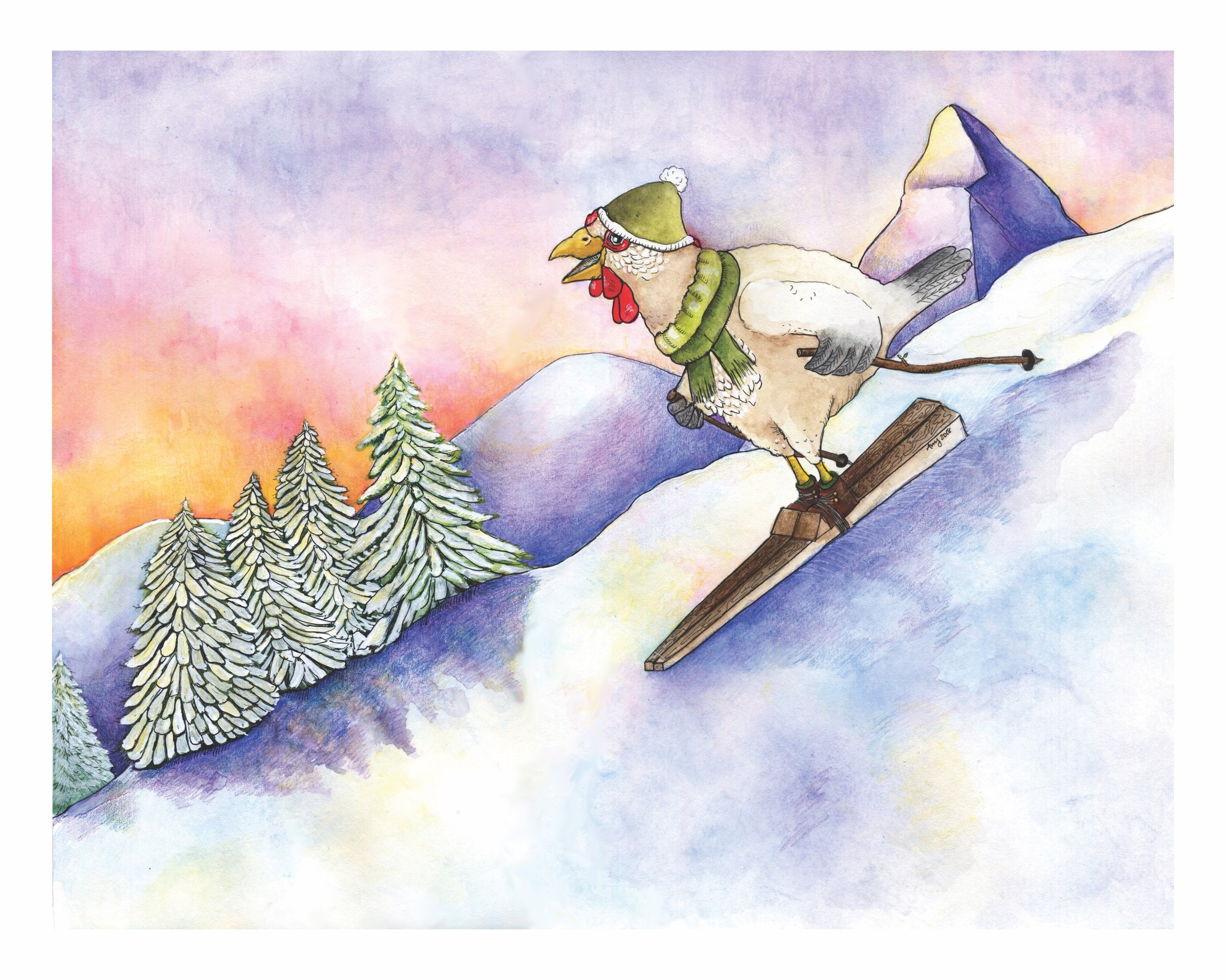 Tanya Skis down Matterhorn