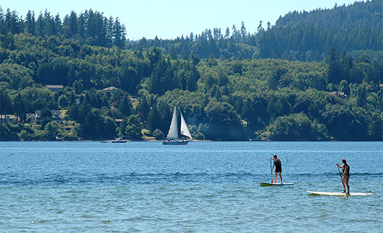 Paddleboarding, kayaking, sailing on sechelt inlet photo bigpacific.com - 5 minutes from bayside
