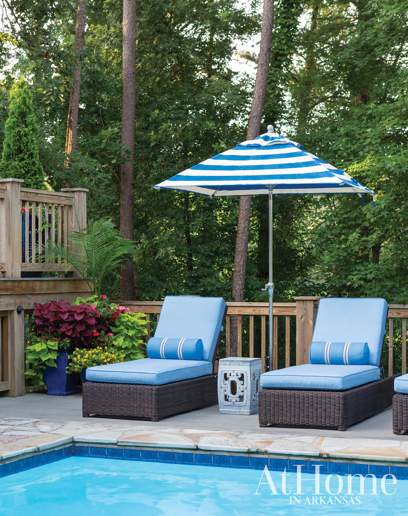 BACKYARD OASIS - As seen in the 2019 Family Issue of At Home in Arkansas magazine.