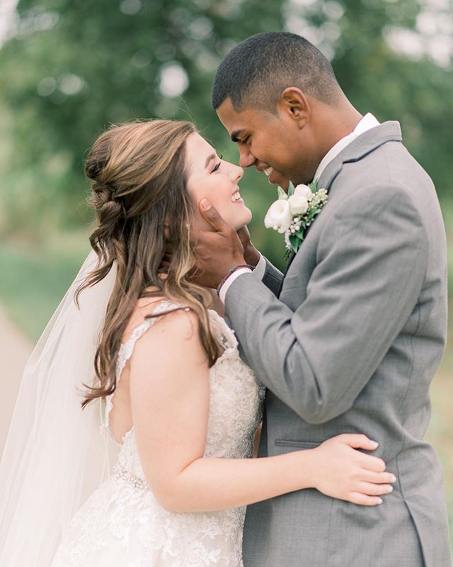 Our beautiful bride Rachel and her love ❤️ Rachel and Cristian were the sweetest couple!