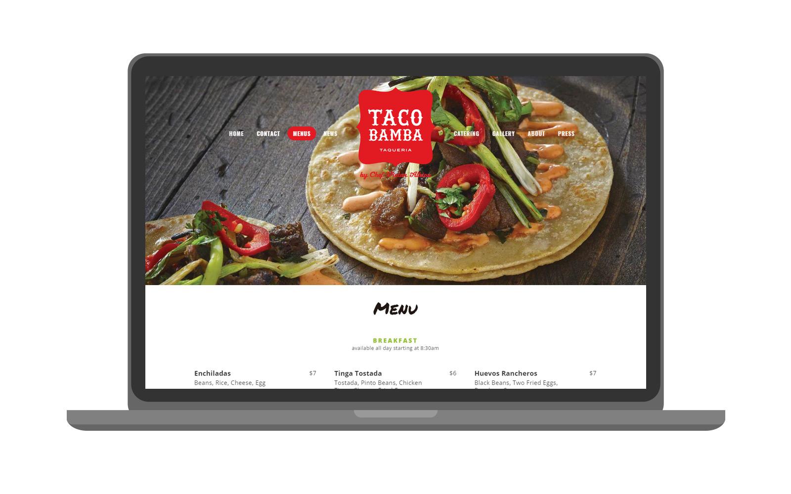 Taco Bamba | Website -