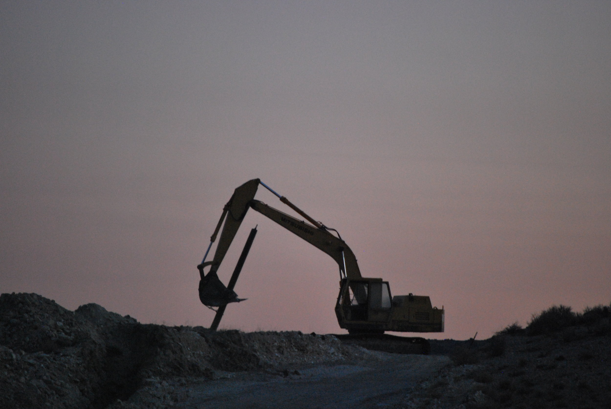 Rainbow Ridge Opal Mine excavator