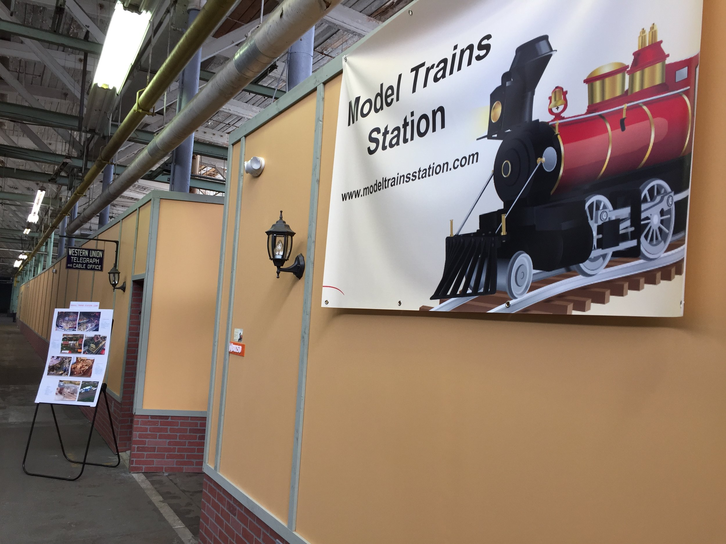 Main Entrance to Model Trains Station