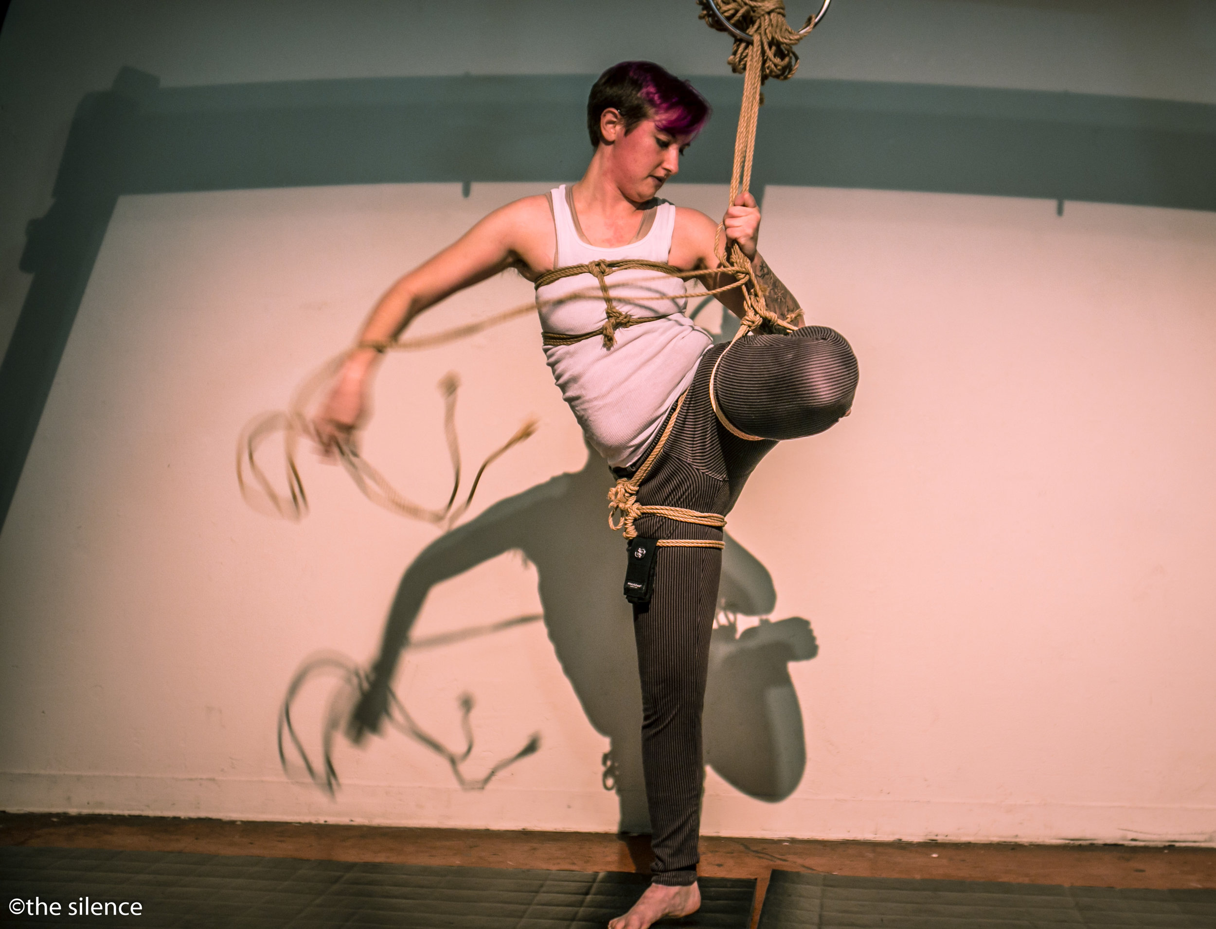 Abbystract performing at Twisted Windows, photo by The Silence