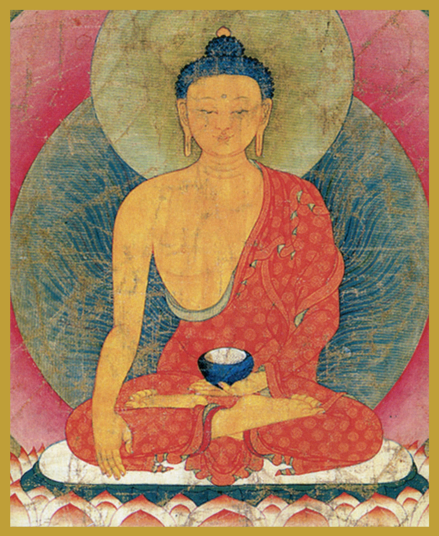 BUD-SA - Sakyamuni BuddhaThe Enlightened OneBuddha, in the sixth century BC, at the age of 35, invoked the earth as his witness when he attained Enlightenment. This is indicated by the fingers of his right hand in the