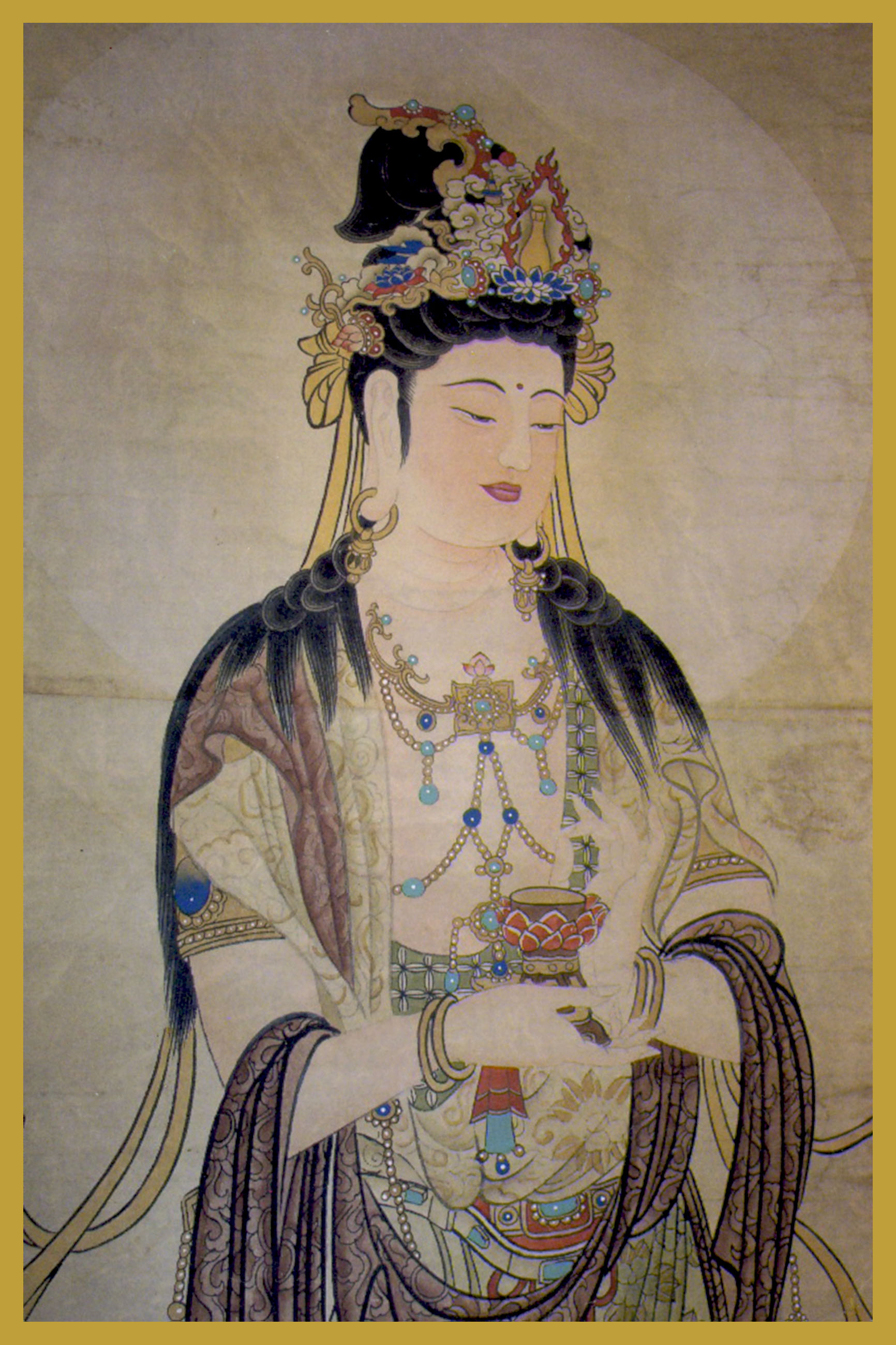 KY-CP - Kuan Yin With CupBodhisattva of CompassionKuan Shih Yin is the Bodhisattva of Compassion. Her Name means