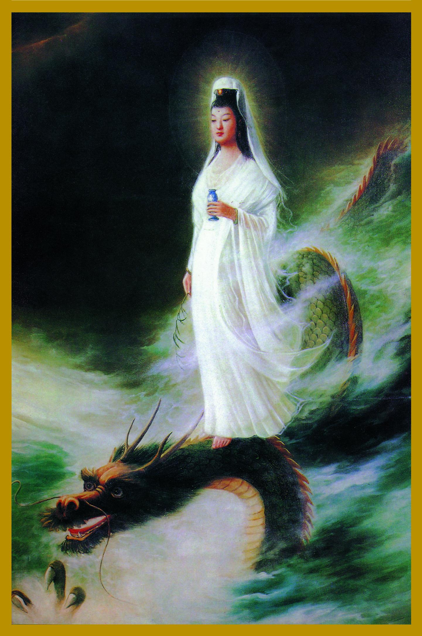 KY-DG - Kuan Yin on DragonBodhisattva of CompassionKuan Shih Yin is the Bodhisattva of Compassion. Her Name means