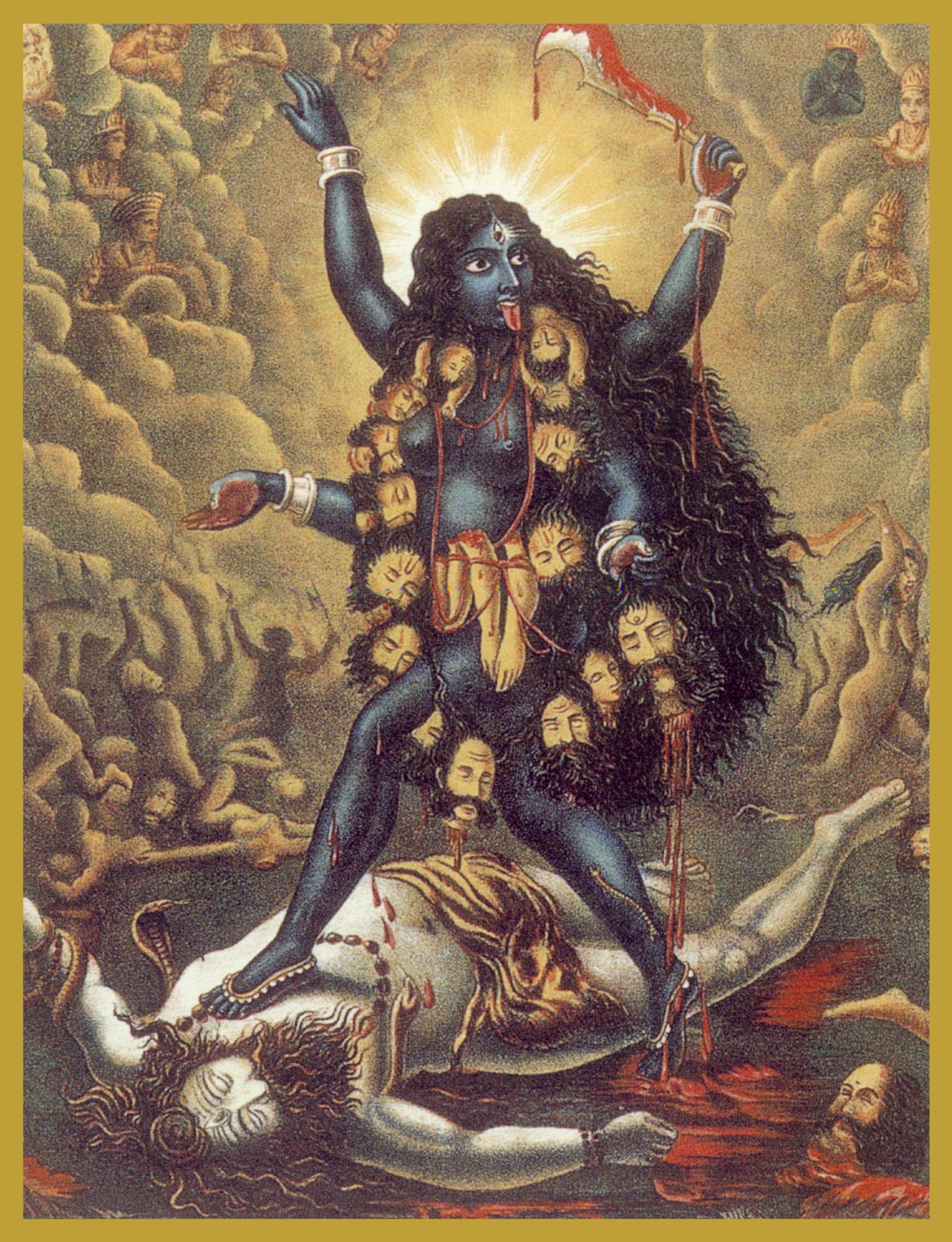 KAL-BLK - BLACK KALISlayer of Time & Death, Destroyer of IllusionKali literally means both 'death' and 'time.' Goddess Kali represents the state where time, space and causation have disappeared.She is both the destroyer and creatrix and is the consort of Lord Shiva. Durga is Kali's mother.