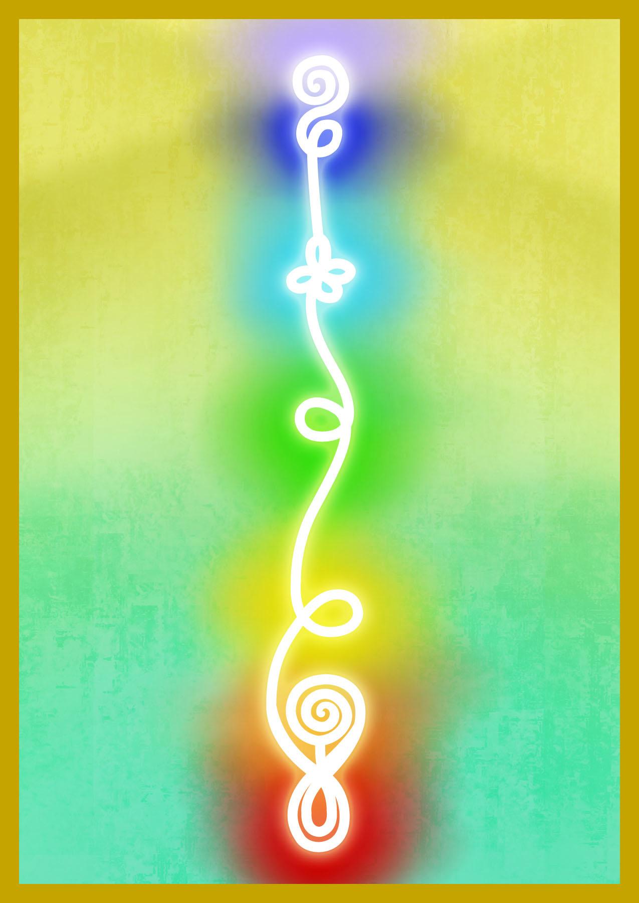 KU-CHA - CHAKRAKundalini ChakrasWhen the Goddess Kundalini has traveled up the spine to meet her Divine Mate, the union of Spirit and Matter are consummated.