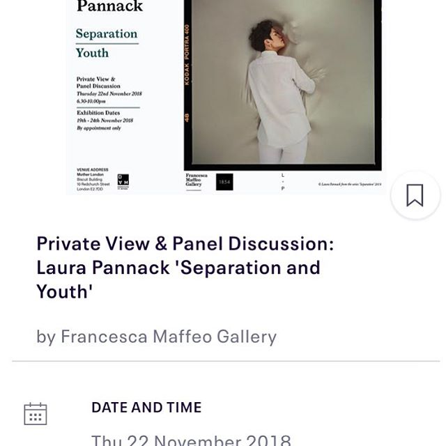 Rsvp here:  https://www.eventbrite.co.uk/e/private-view-panel-discussion-laura-pannack-separation-and-youth-tickets-51358086419