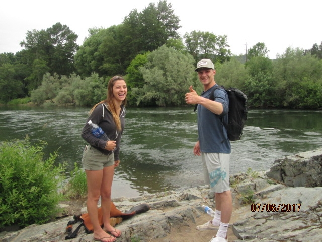 A couple Jackie and Luke fishing at one of the best and most beautiful places to fish. They caught a small salmon and a trout. Like me they catch and release. It was GREAT meeting you guys!