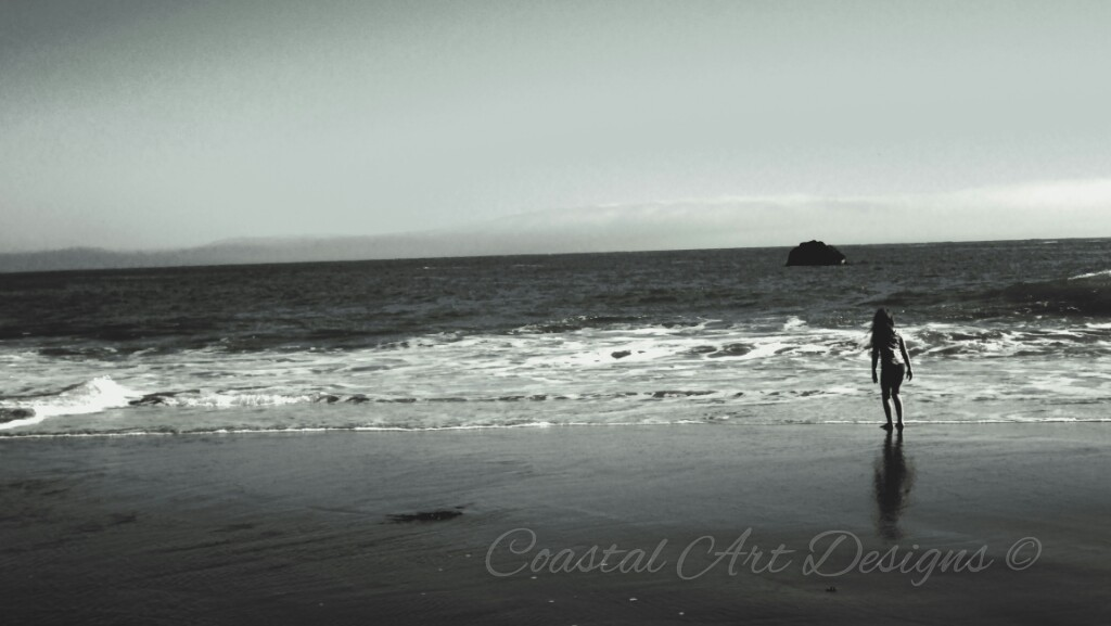 Captured the coastal girl I met on a photo shot at Harris Beach State Park in Brookings, Oregon.