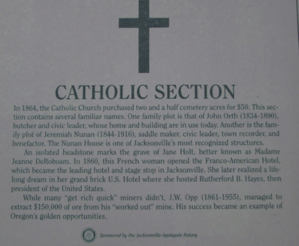 Story behind the Catholic Section