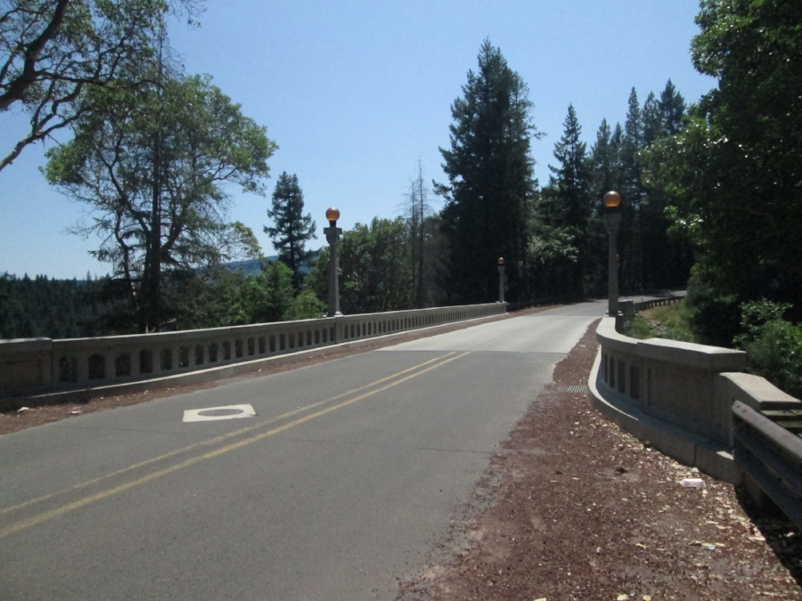 This the bridge overpass into Prospect, Oregon off hwy 62 to Union Creek next is Crater Lake, Oregon.