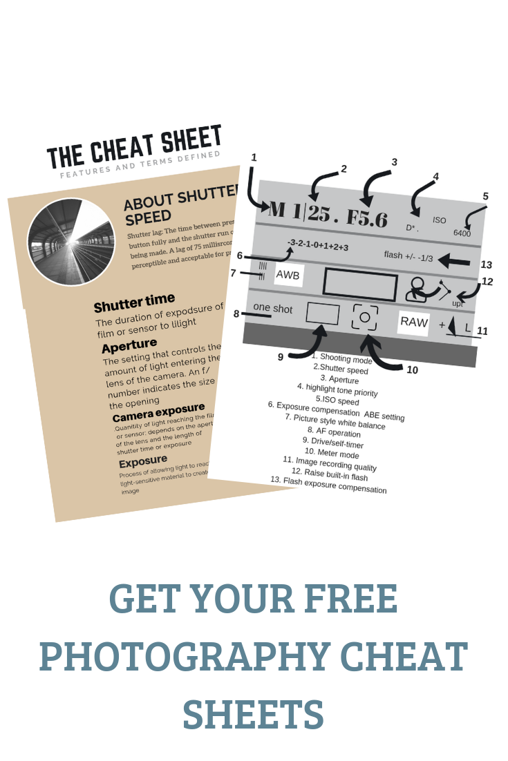 Want a cheat sheet enter your email address and have access to it right way! - Its a download pdf file with what your settings meaning and the most important photography tips.