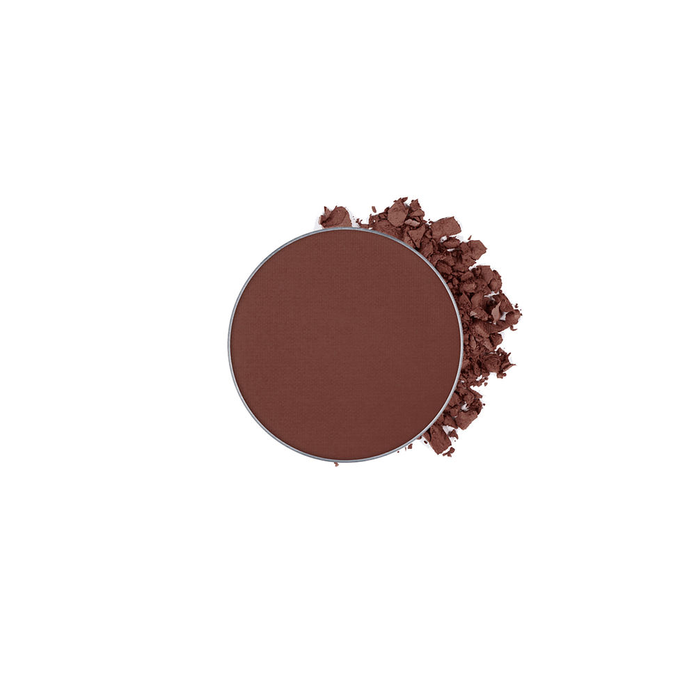 This looks super dark in the photo but its not in person. It's more of a light brown with a bit of red in it, it's perfect for us dark haired gallsss. I wear this every single day in my crease and it is the first part in my eye shadow routine. Perf for blending too :) (called red earth)