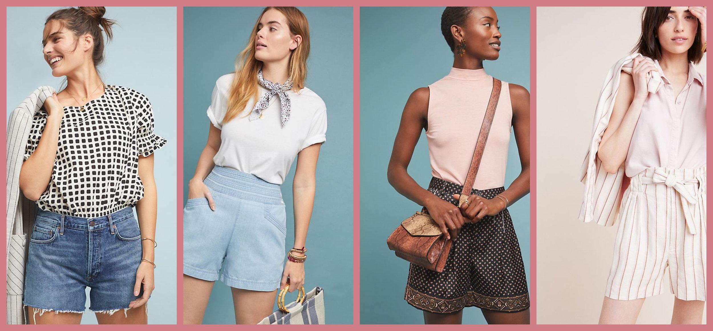 High-Waisted Denim Shorts     High-Waisted Chambray Shorts       Silk Printed Shorts     Striped Paper Bag Shorts