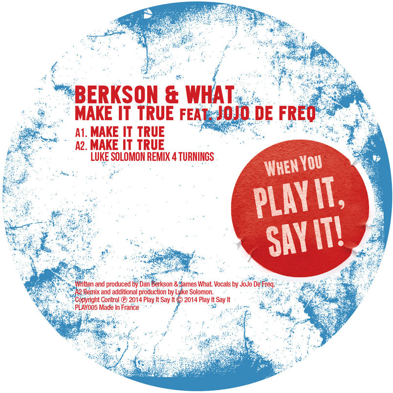 Berkson & What -  Make It True  feat. Jojo De Freq  (Mr Fingers smooth mix)