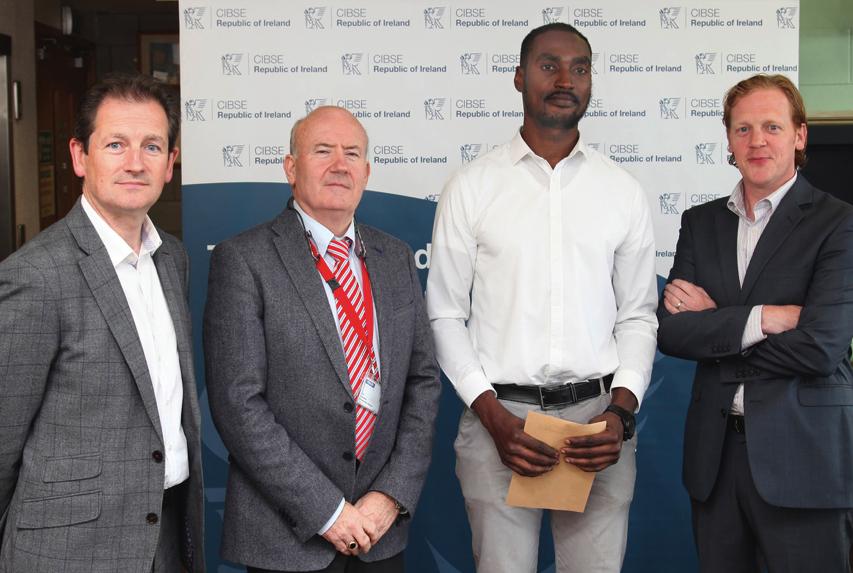 Ekene Gbanite, winner of the Annual CIBSE Student Award, sponsored by Suir Engineering.