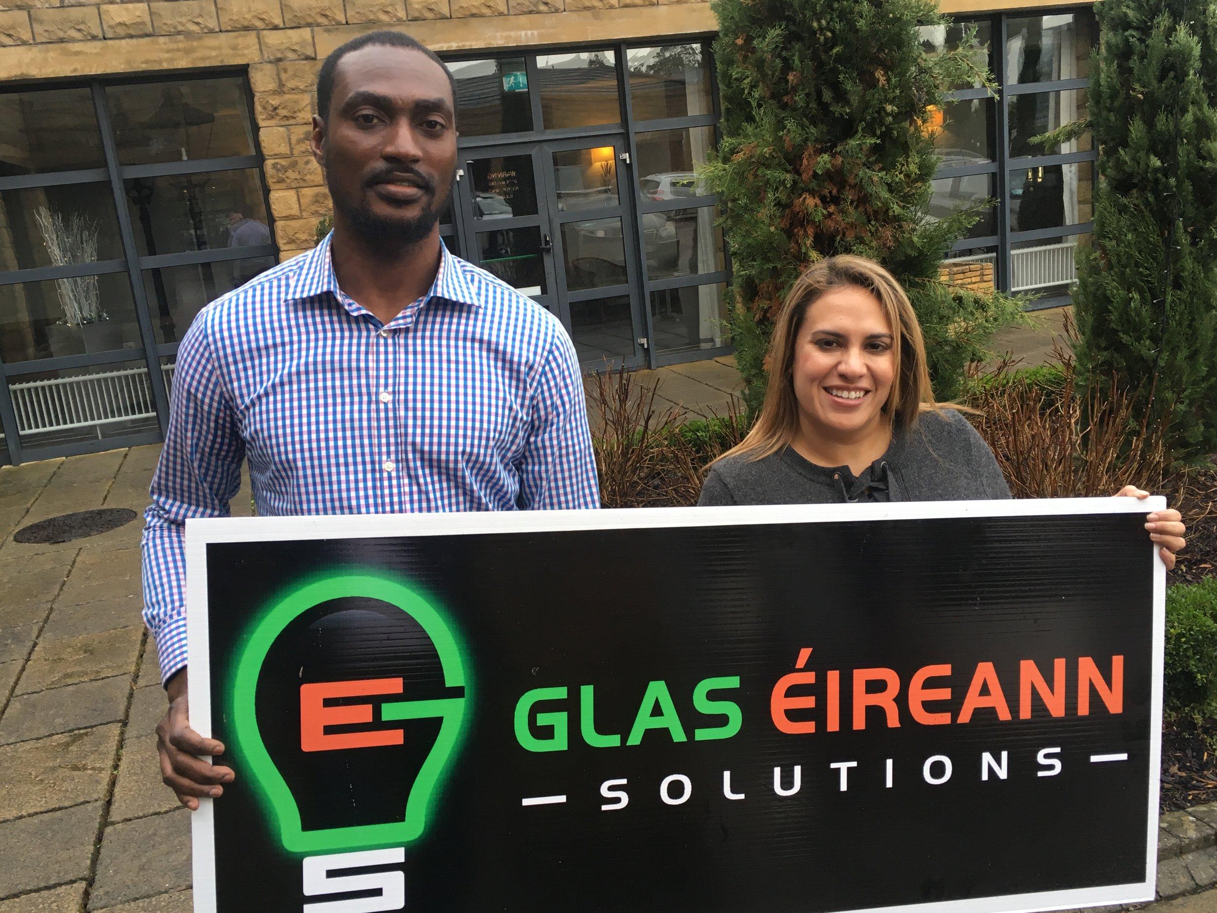CTO Ekene Gbanite, pictured with CEO Cori Calvert.