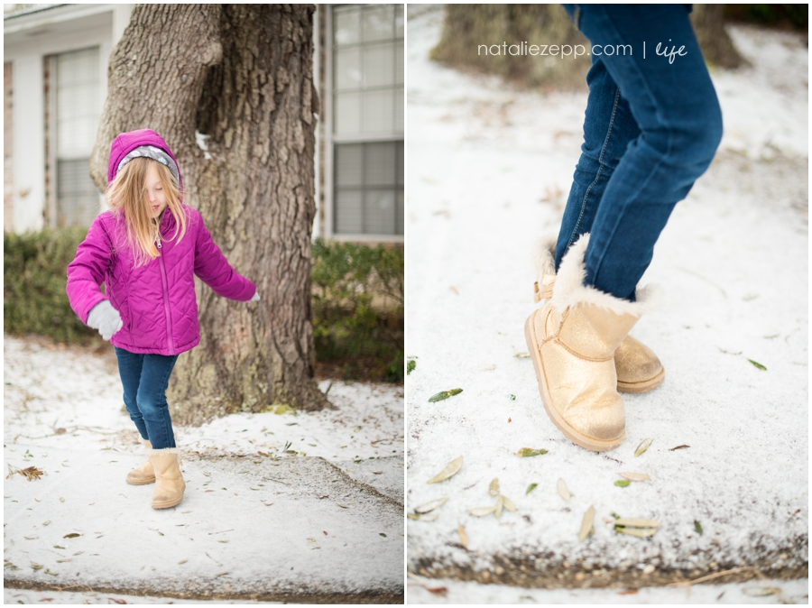 gold snow boots