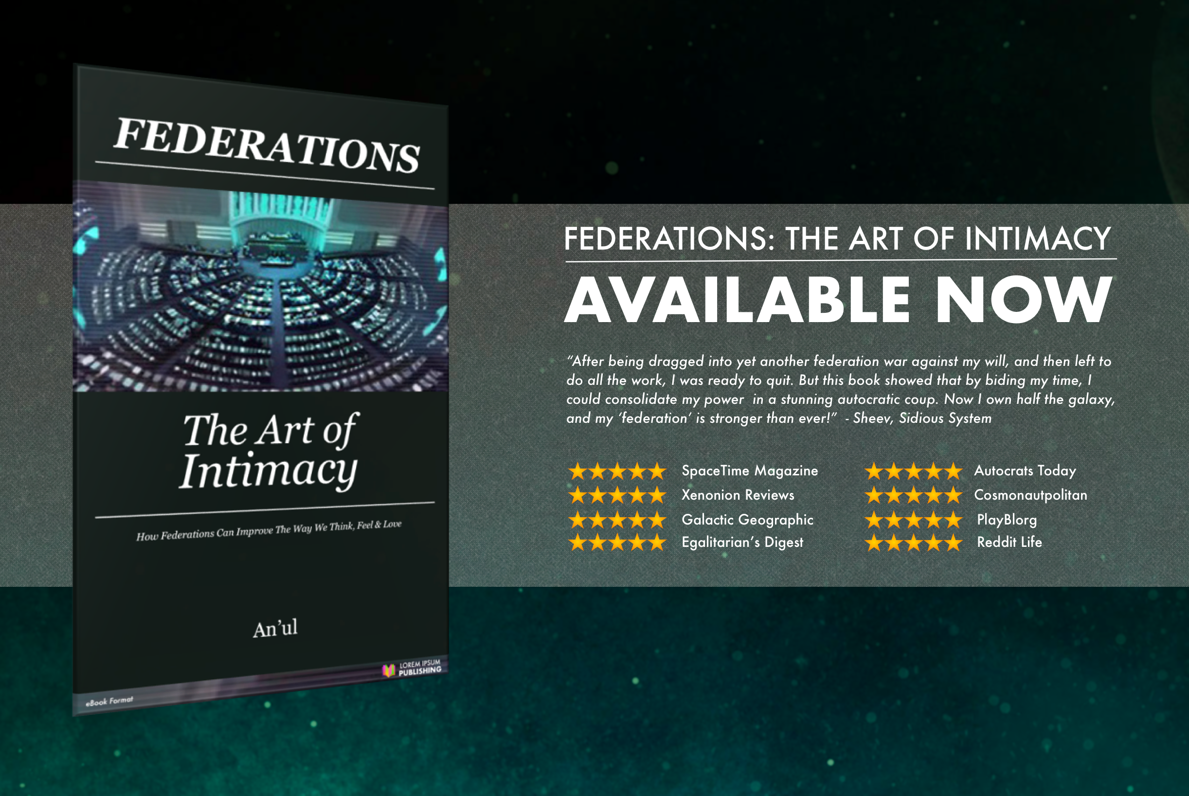 Sponsored: Federations, The Art of Intimacy - available now!