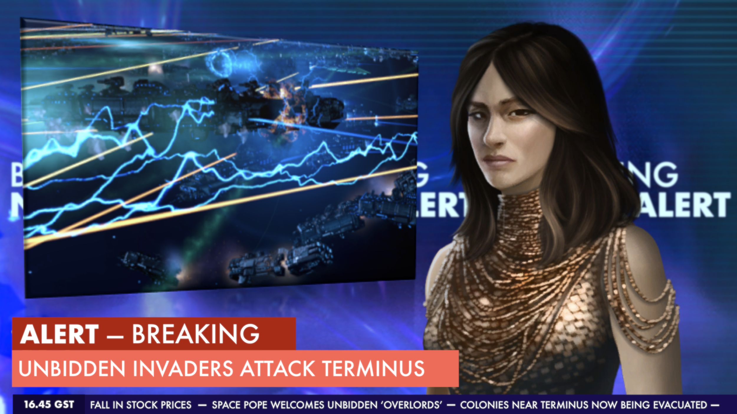 Image: Breaking news alert - Unbidden invaders attack Terminus.