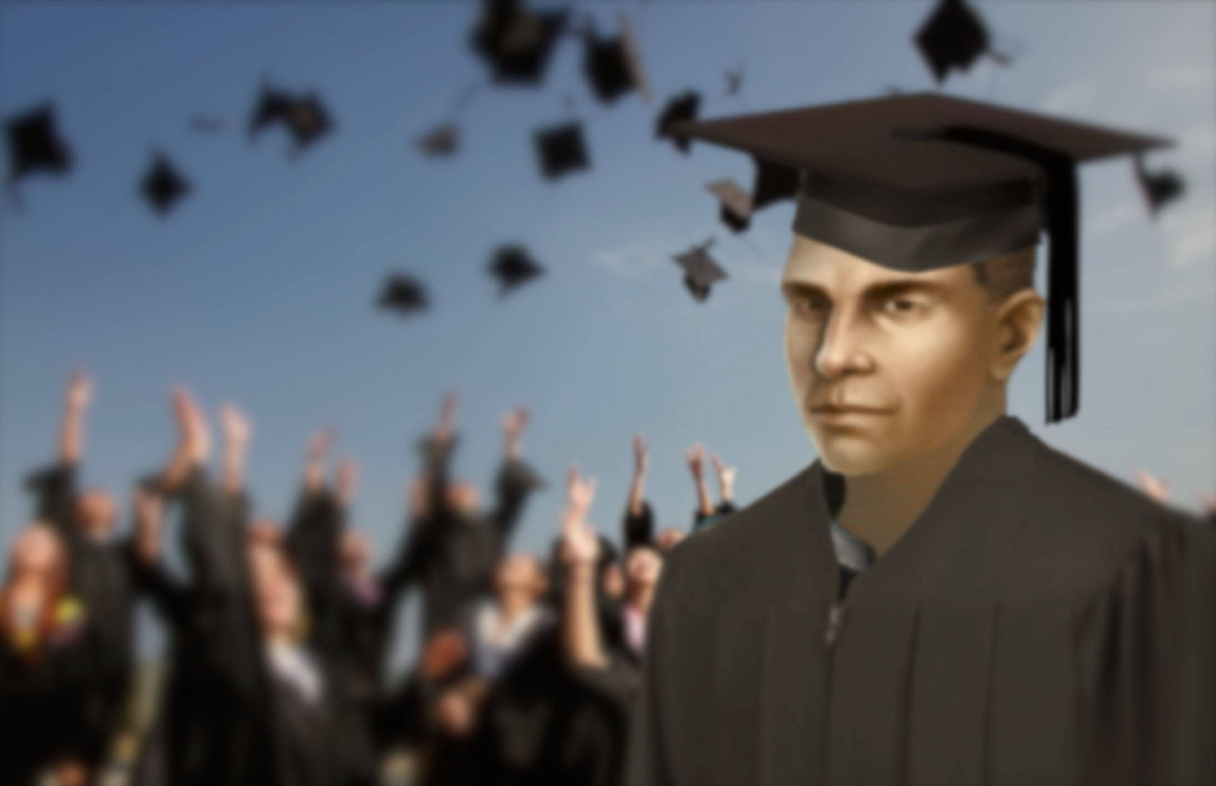 Image: Paul Bork graduates from Ulm Fleet Academy.
