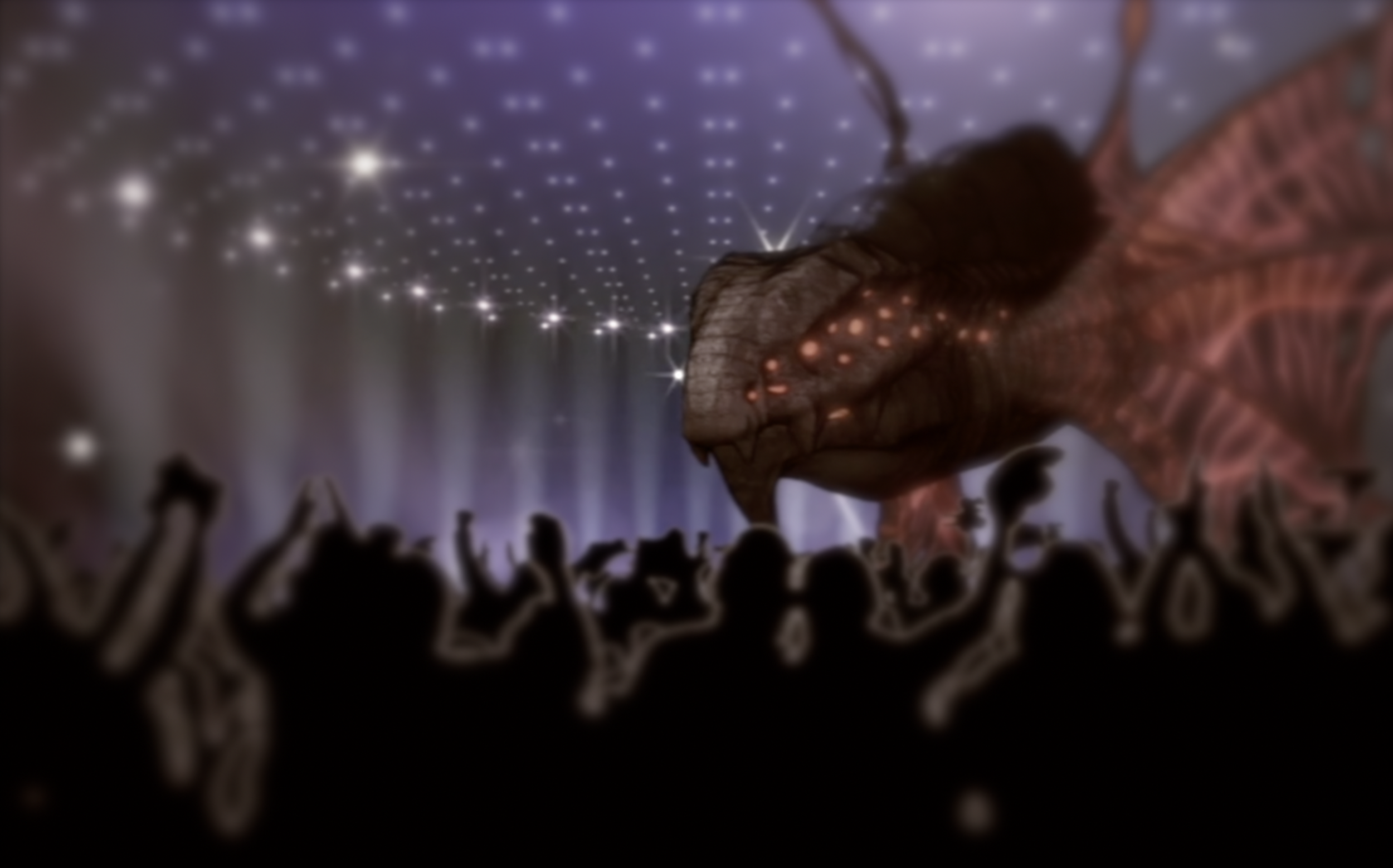 Image: The Ether Drake performing at Xenovision moments before he was interrupted by a stage invader.